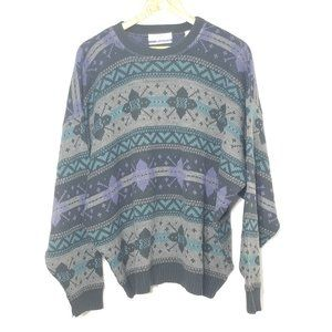 Tip Top |Vintage Knit Patterned Fair Isle Sweater